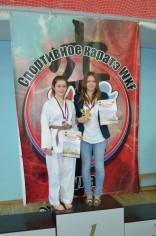 Награждение победителей соревнования по каратэ «Памяти павших, во имя живых» (девочки)