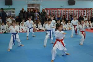 Показательные выступления спортсменов на соревновании по каратэ в Туле