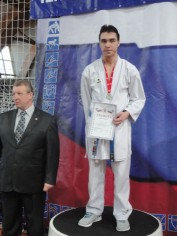 Илюшкин Евгений призер Чемпионата и первенства Московской области по каратэ в Щелково