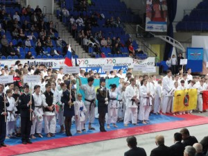Официальная часть международного турнира по каратэ в Люберцах 2014