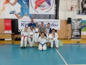 Серебряные призеры на  Всероссийских соревнованиях по каратэ (WKF) «Кубок Дружбы» 2014 год
