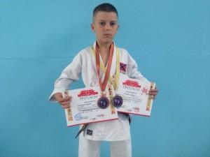 Голушко Руслан - призер международных соревнований по каратэ wkf