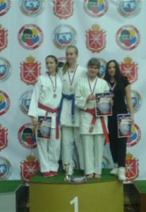 Зеленова Ирина - призер Всероссийских соревнований по каратэ им.Двугрошева