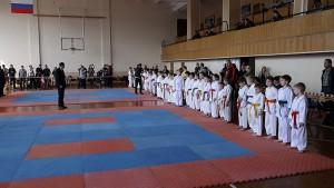 Открытие соревнований по каратэ, посвященных 70 летию Великой победы